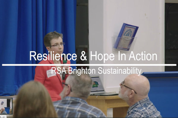 RSA Sustainability Network Brighton: Resilience & Hope in Action (Video clip)