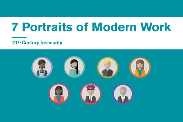 Seven portraits of economic security and modern work in the UK