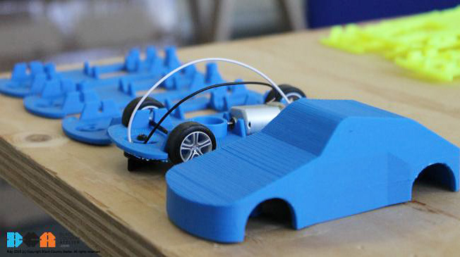 . Here BCA helps students and teachers design and 3D print chassis and body for Scalextric project.