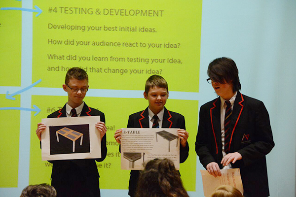 Pupil Design Awards - students pitching
