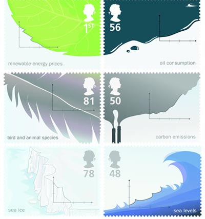 Alternative energy stamps - Sam Bestwick