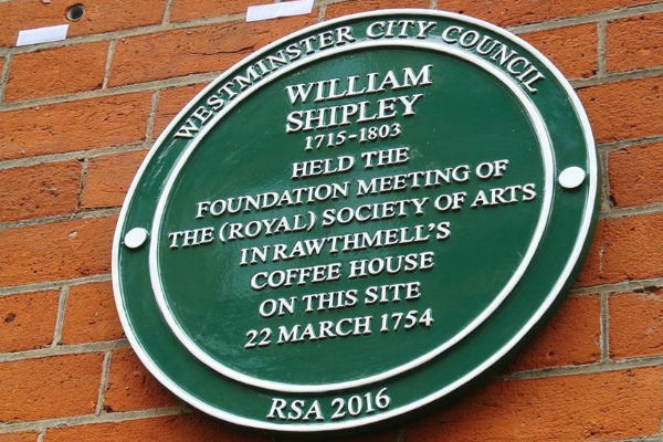 WILLIAM SHIPLEY PLAQUE UNVEILED