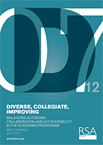 Diverse, collegiate, improving: Balancing autonomy, collaboration and accountability in the academies programme