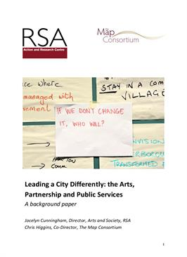 Leading a City Differently: the Arts, Partnership and Public Services