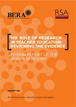 The role of research in teacher education: Reviewing the evidence