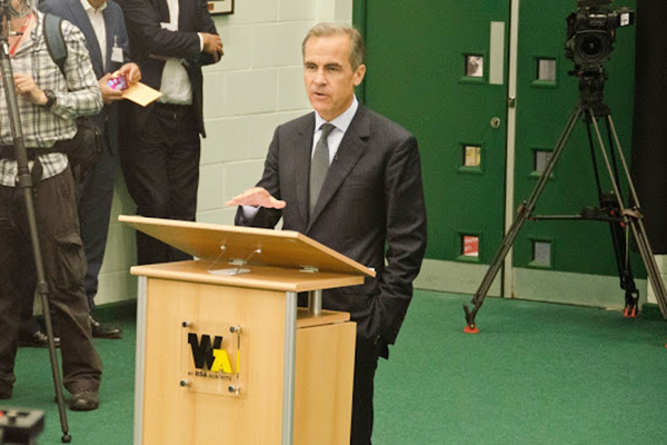Mark Carney's visit to Whitley Academy