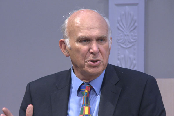 Vince Cable on The Future of Further Education & Skills
