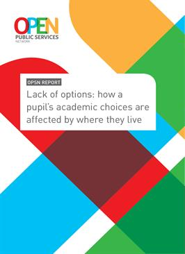 Lack of Options: How a pupil's academic choices are affected by where they live