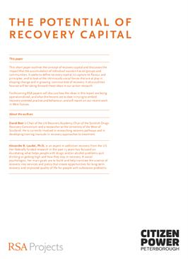 The Potential of Recovery Capital