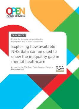 Report: Getting the message on mental health - from public data to public information