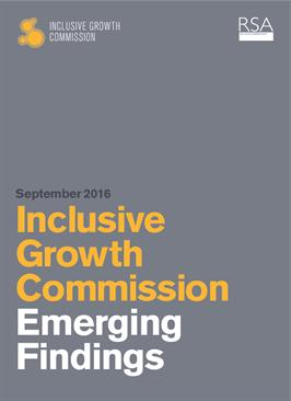 Inclusive Growth Commission: Emerging findings