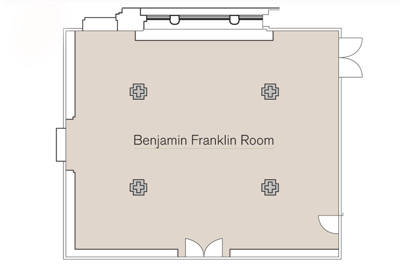 Benjamin Franklin Room Floor Plan