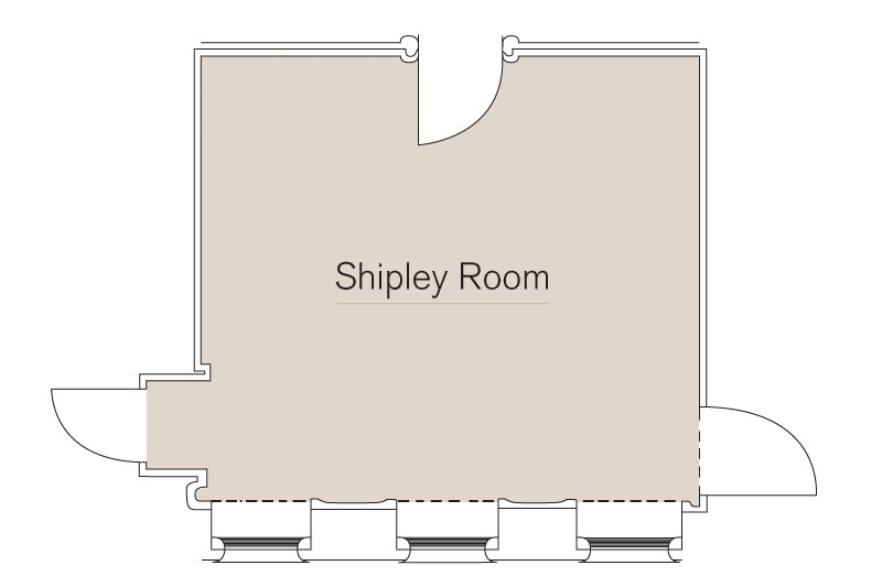 Shipley Room Floor Plan