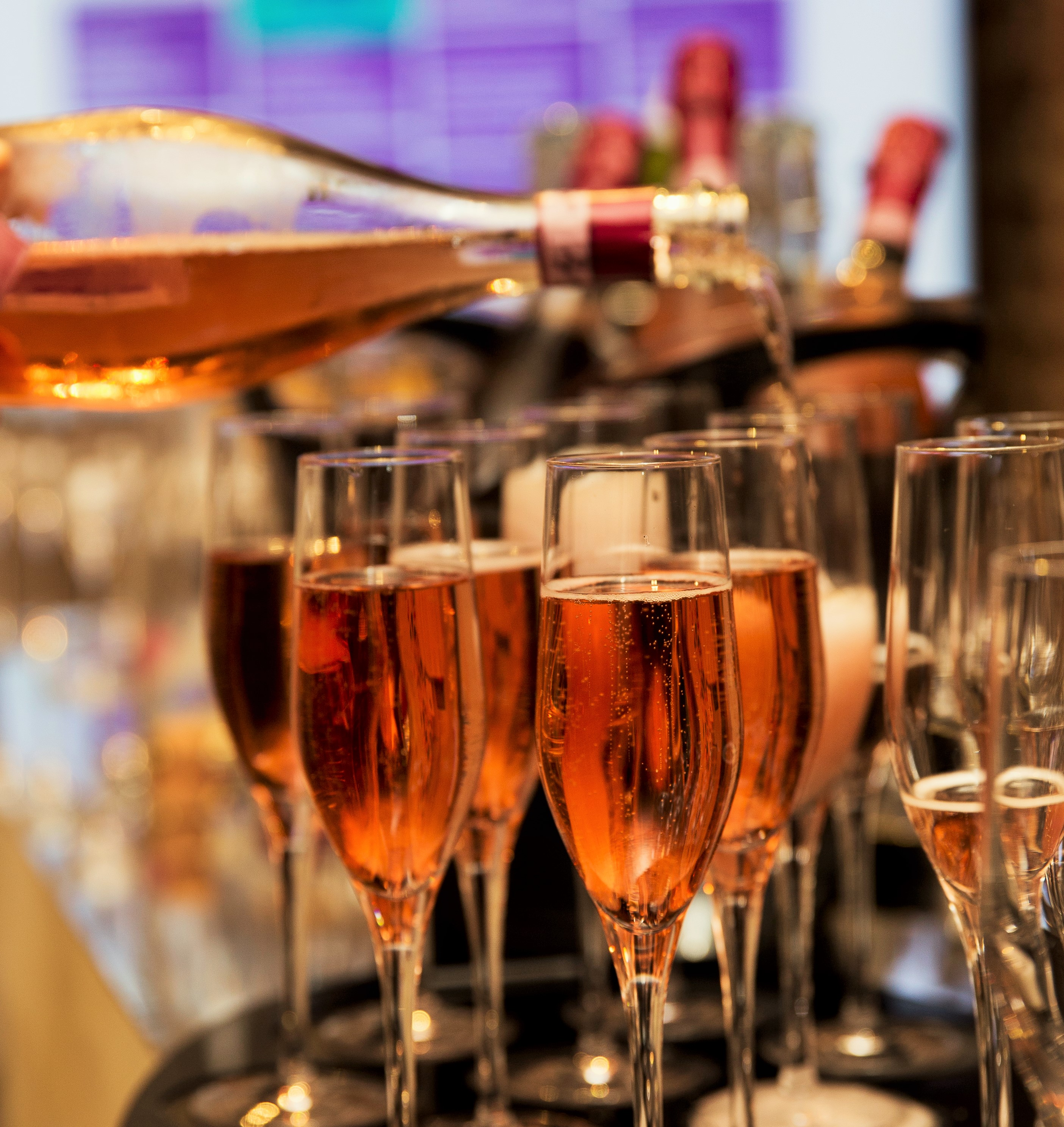 Complimentary sparkling drinks reception